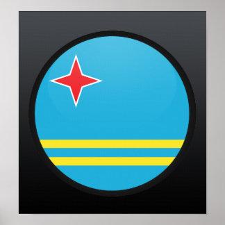 Aruba quality Flag Circle Print