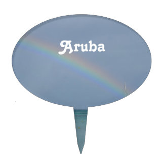 Aruba Rainbow Cake Topper
