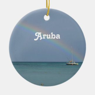 Aruba Rainbow Ceramic Ornament