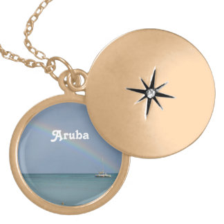 Aruba Rainbow Gold Plated Necklace