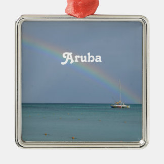 Aruba Rainbow Metal Ornament