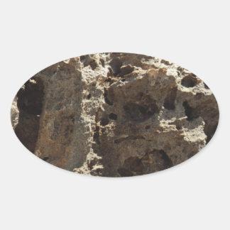 Aruba Rock Formation Oval Sticker