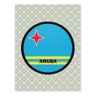 Aruba Roundel quality Flag Postcard