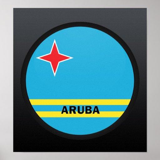 Aruba Roundel quality Flag Poster