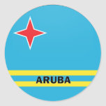 Aruba Roundel quality Flag Round Sticker