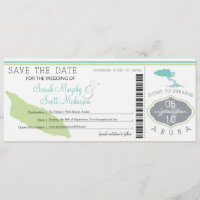 ARUBA Save the Date Boarding Pass