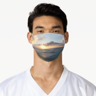 Aruba Scenic Sunset over the Caribbean Sea Adult Cloth Face Mask
