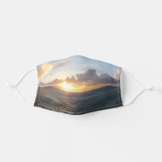 Aruba Scenic Sunset over the Caribbean Sea Cloth Face Mask