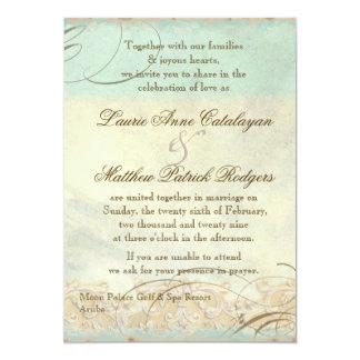 Aruba Sea Turtle Modern Coastal Ocean Beach 5x7 Paper Invitation Card