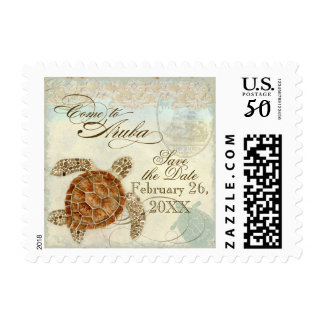 Aruba Sea Turtle Modern Coastal Ocean Beach Postage
