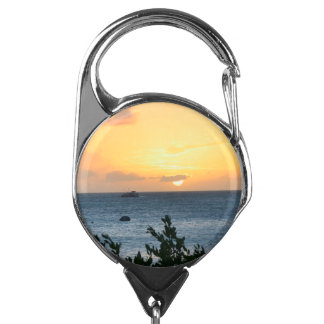 Aruba Setting Sun Badge Holder