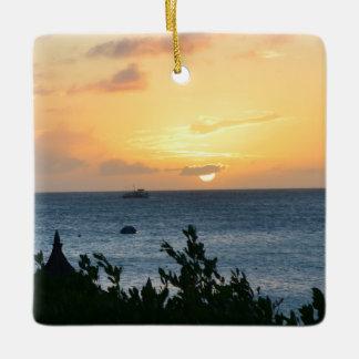 Aruba Setting Sun Ceramic Ornament