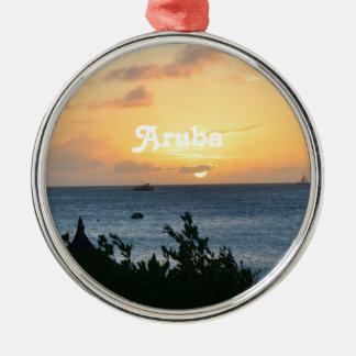 Aruba Setting Sun Metal Ornament