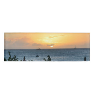 Aruba Setting Sun Name Tag