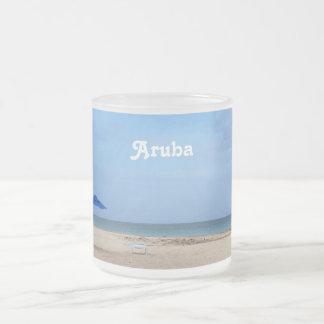 Aruba Solitude Frosted Glass Coffee Mug