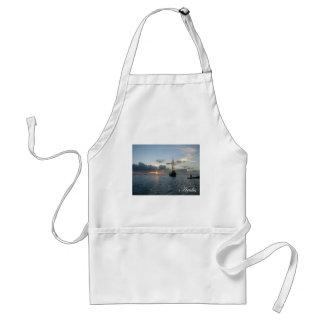 Aruba Sunset - Boat Adult Apron
