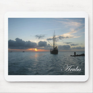 Aruba Sunset - Boat Mouse Pad