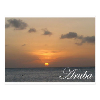 Aruba Sunset Post Card