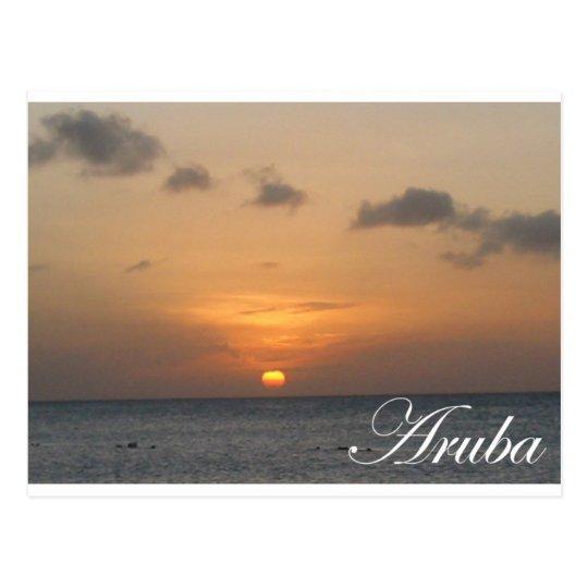 Aruba Sunset Postcard