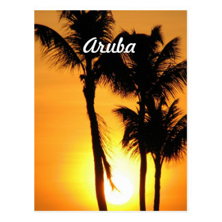 Aruba Sunset Postcard