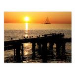 Aruba sunset postcards
