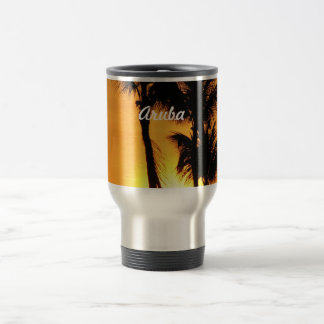 Aruba Sunset Travel Mug