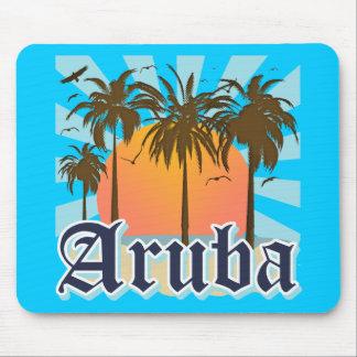 Aruba vara puesta del sol alfombrilla de raton