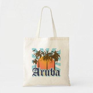 Aruba vara puesta del sol bolsa tela barata