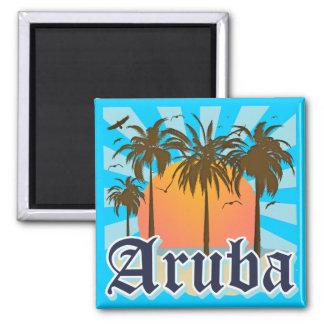 Aruba vara puesta del sol imán cuadrado