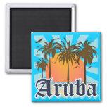 Aruba vara puesta del sol iman de frigorífico