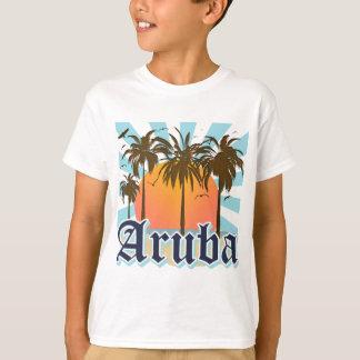 Aruba vara puesta del sol playera