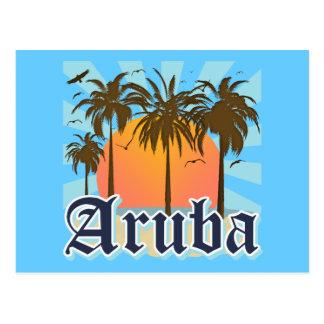 Aruba vara puesta del sol postal