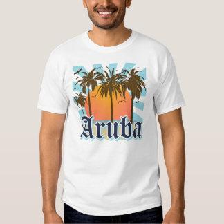 Aruba vara puesta del sol remeras