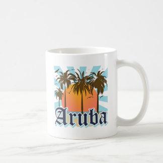 Aruba vara puesta del sol tazas de café
