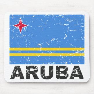 Aruba Vintage Flag Mouse Pad