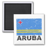 Aruba Vintage Flag Refrigerator Magnets