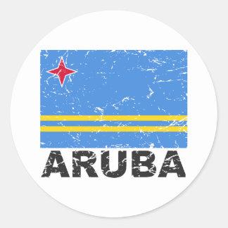 Aruba Vintage Flag Classic Round Sticker
