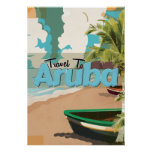 Aruba Vintage Travel Poster. Poster