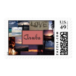 Aruba Wedding collage stamps