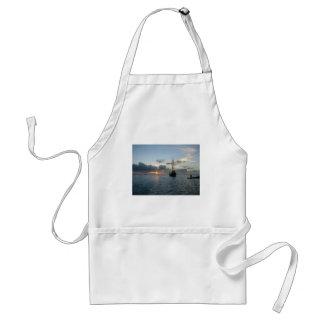 Aruba with boat & sunset adult apron