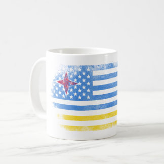 Aruban American Flag   Aruba and USA Design Coffee Mug