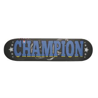 Aruban and a Champion Skate Board