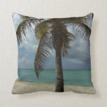 Aruban Beach I Beautiful Nature Scene Throw Pillows