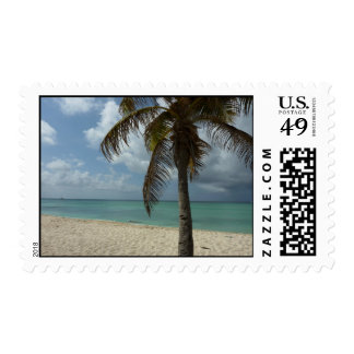 Aruban Beach I Beautiful Nature Scene Postage Stamp