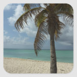 Aruban Beach I Beautiful Nature Scene Square Sticker