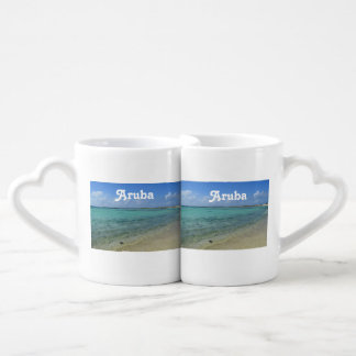 Aruban Beach Couples' Coffee Mug Set