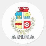 Aruban Emblem Classic Round Sticker