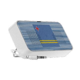Aruban Flag Floating on water Mini Speakers