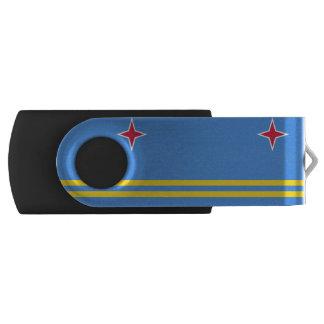 Aruban flag swivel USB 2.0 flash drive