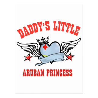 Aruban princess designs postcard